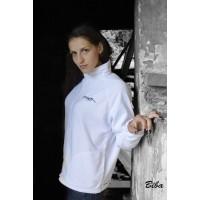 Mikina fleecová dámská, bílá